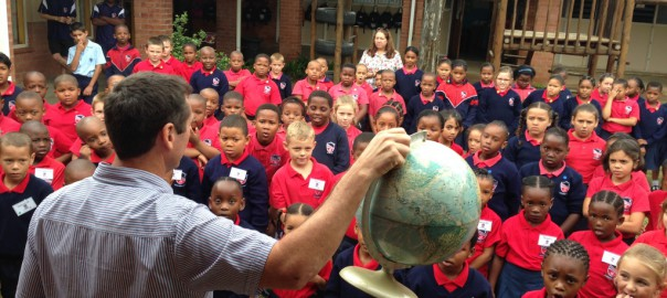 Around the world with Mr Mouton - learning to let your light shine.